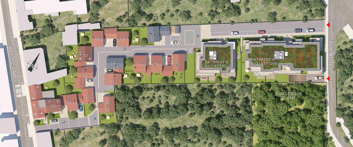 Resonance, programme immobilier neuf Lieusaint 77 en Seine-et-Marne